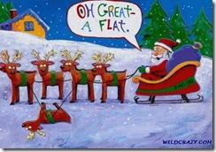 A flat reindeer