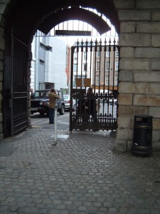 Leaving Dublin Castle