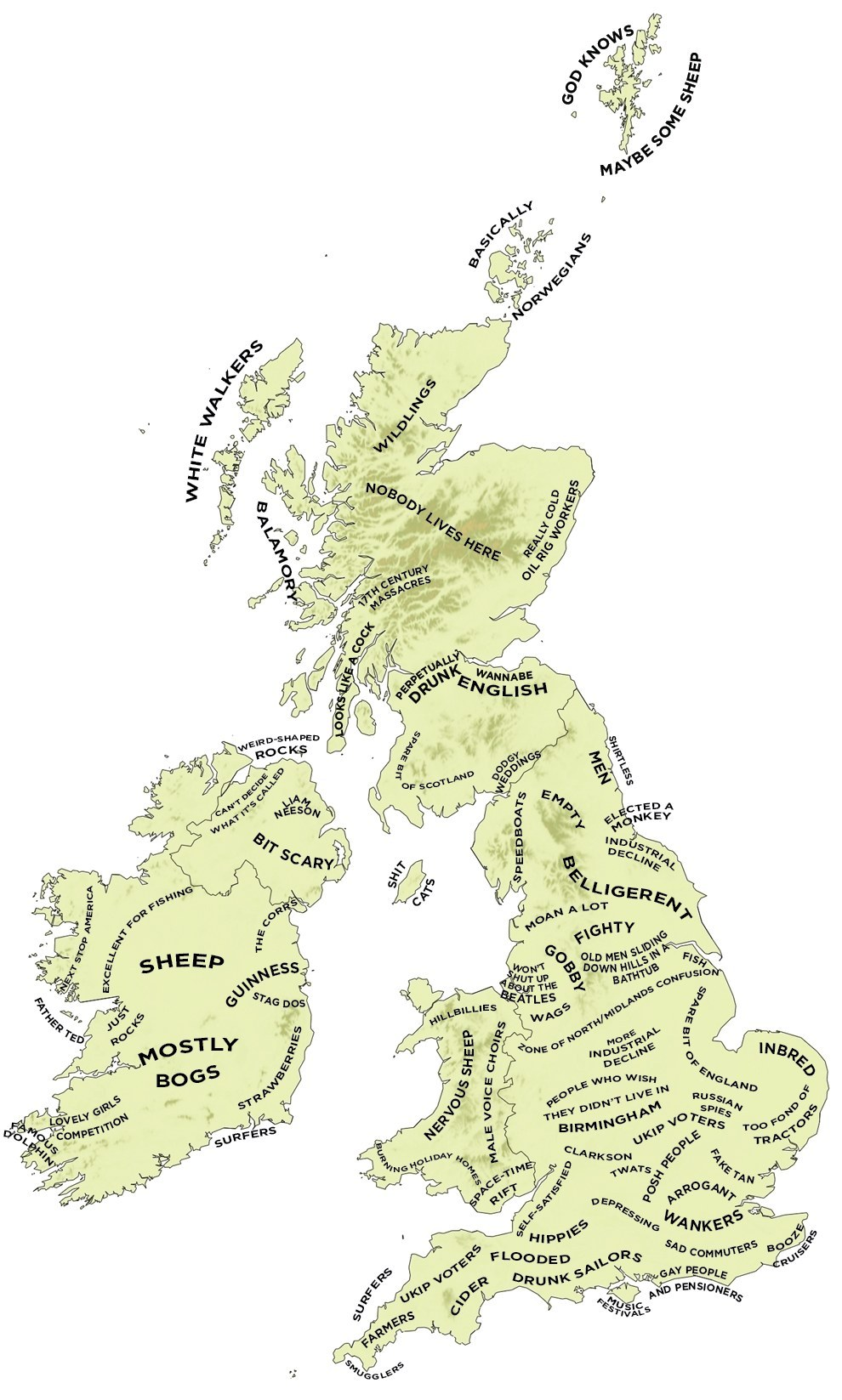 Map Of Britain And Ireland Grannymar - Uk and us map