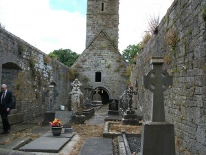 Family Graves within the walls of the old church in  Kildysart.