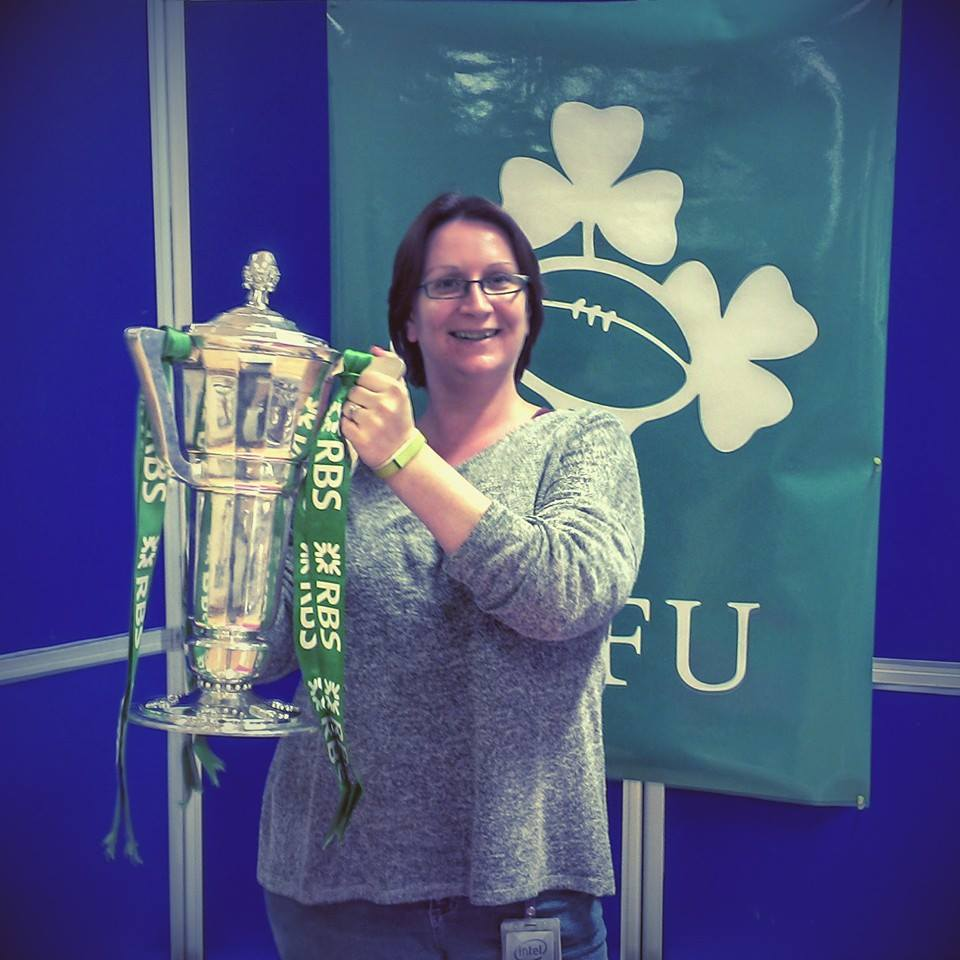Elly with RBS 6 Nations Cup
