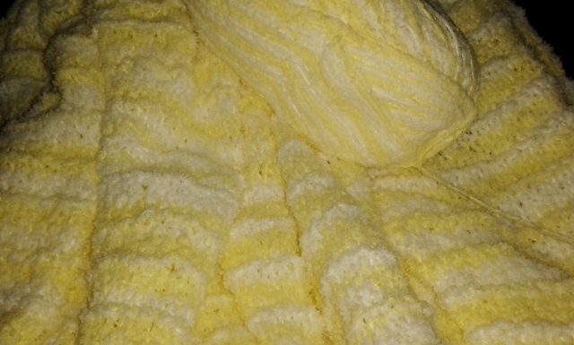 Work in progress - knitting scrambled egg!