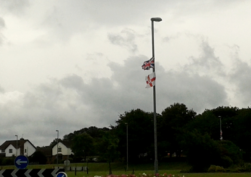 My world seems to be at half mast!