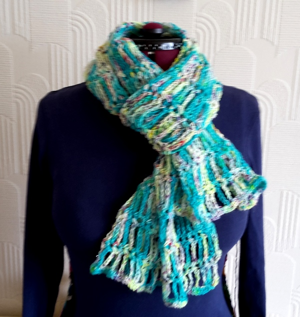 Ladder stitch scarf